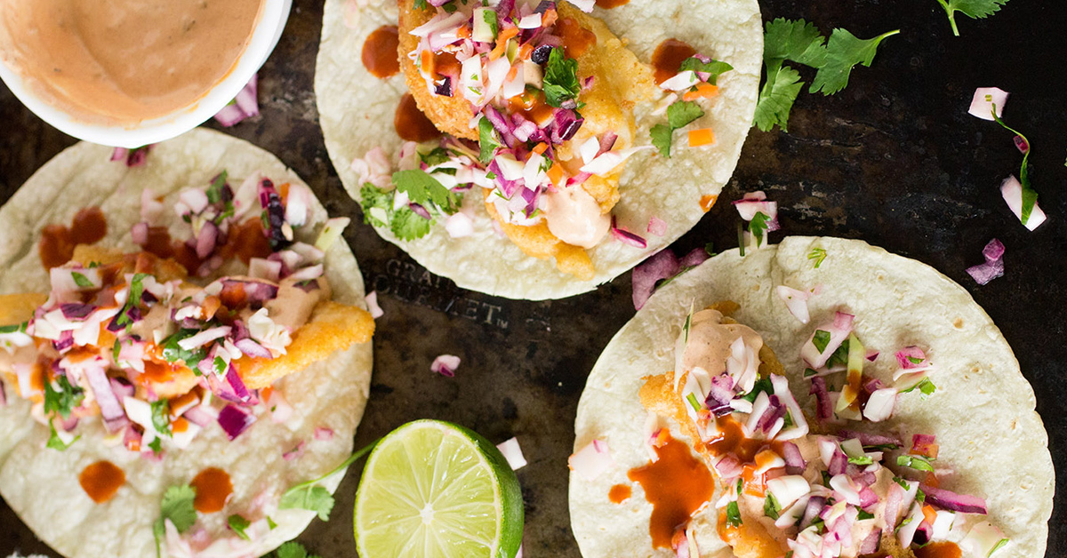 Beer Battered Fish Tacos with Spicy Habanero Slaw