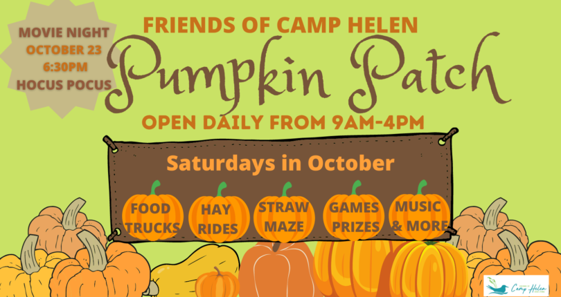 Pumpkin Patch Grand Opening at Camp Helen State Park